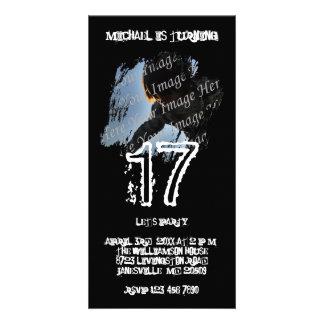 Grunge-Foto-Geburtstags-Einladungen Fotokarte
