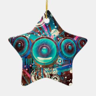 Grunge-laute Lautsprecher 2 Keramik Stern-Ornament