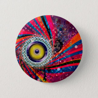 Grunge-laute Lautsprecher Runder Button 5,1 Cm