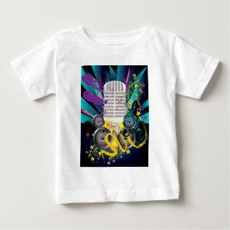 Grunge-Lautsprecher und Microphone3 Baby T-shirt