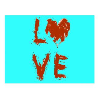 Grunge-Liebe-Herz Postkarte