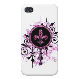 Grunge-Lilien-Telefon-Kasten iPhone 4 Hülle