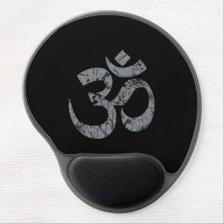 Grunge OM-Symbol-Spiritualität-Yoga Gel Mouse Matten