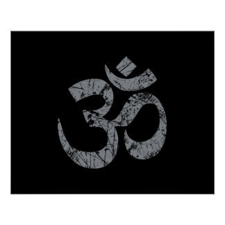 Grunge OM-Symbol-Spiritualität-Yoga Poster
