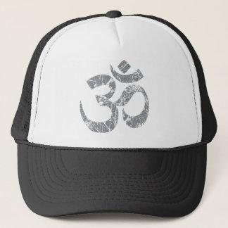 Grunge OM-Symbol-Spiritualität-Yoga Truckerkappe