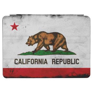 Grunge-patriotische Kalifornien-Staats-Flagge iPad Air Hülle