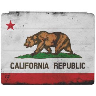 Grunge-patriotische Kalifornien-Staats-Flagge iPad Hülle