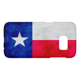 Grunge-patriotische Texas-Staats-Flagge