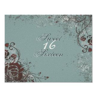 Grunge-Rosen-Bonbon 16 Geburtstags-Party Einladung