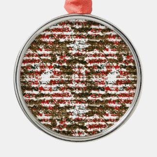 Grunge-strukturiertes abstraktes Muster Silbernes Ornament