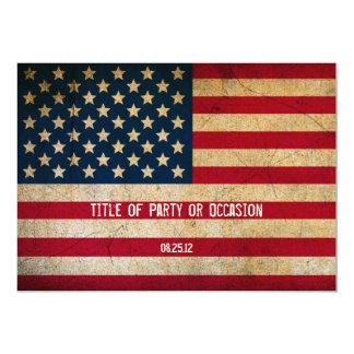 Grunge USA-Party Einladung/Vintage USA 12,7 X 17,8 Cm Einladungskarte