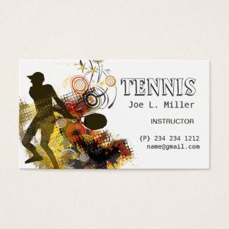 Grunge-Wirbels-Tennis-Spieler Visitenkarte