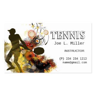 Grunge-Wirbels-Tennis-Spieler Visitenkarten
