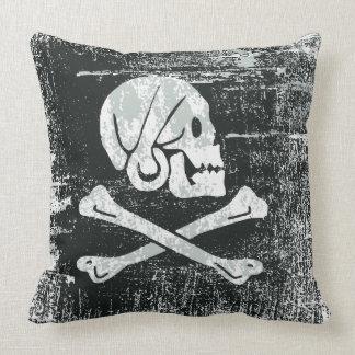 Grunged Piraten-Henryflagge Kissen