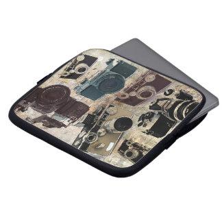 Grungephotograph-Fotografie Vintage Kamera Laptop Sleeve