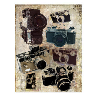 Grungephotograph-Fotografie Vintage Kamera Postkarte
