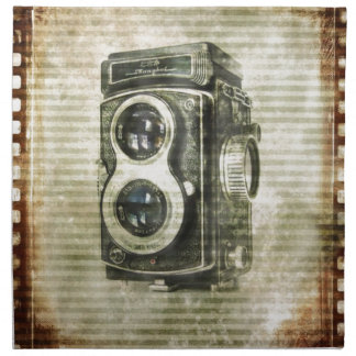 Grungephotograph-Fotografie Vintage Kamera Stoffserviette