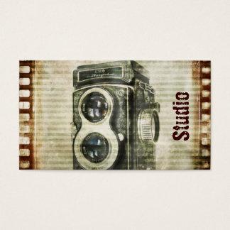 Grungephotograph-Fotografie Vintage Kamera Visitenkarte