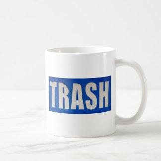 Grungy Abfall-Zeichen Kaffeetasse