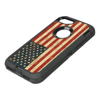 Grungy amerikanische Flagge USA OtterBox Defender iPhone 8/7 Hülle