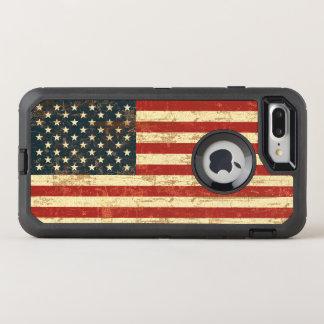 Grungy amerikanische Flagge USA OtterBox Defender iPhone 8 Plus/7 Plus Hülle