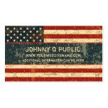 Grungy amerikanische Flagge Visitenkarte
