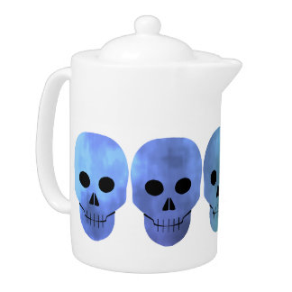 Grungy blaue Schädel