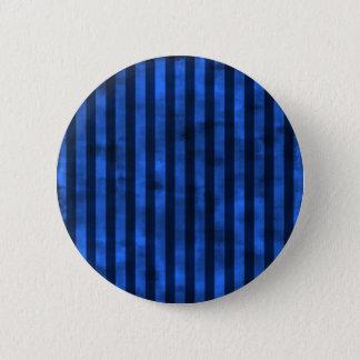 Grungy blaue Streifen Runder Button 5,7 Cm