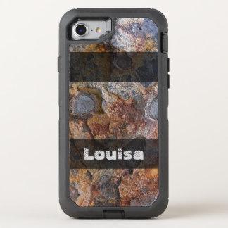 Grungy Geologie-rostige Felsen-Struktur irgendein OtterBox Defender iPhone 8/7 Hülle