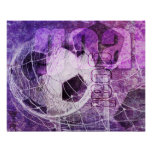 Grungy Girly Fußball Poster