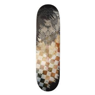 Grungy Löwe-Skateboard-Entwurf Personalisiertes Deck