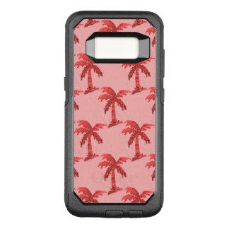 Grungy rosa Paillette-Palme-Bild OtterBox Commuter Samsung Galaxy S8 Hülle