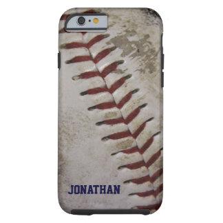 Grungy schmutziger Baseball personalisierter Tough iPhone 6 Hülle