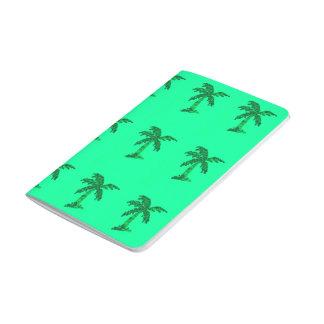 Grungy Sequined Palme-Bild Taschennotizbuch