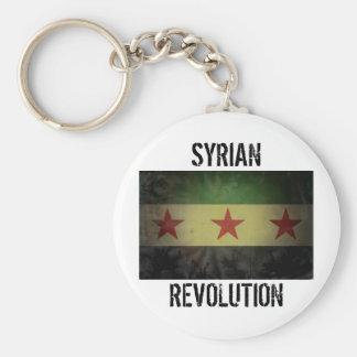"""Grungy Syrien-Flagge """"syrische Revolution """" Standard Runder Schlüsselanhänger"""