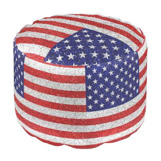 Grungy USA-Flagge Hocker