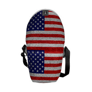 Grungy USA-Flagge Kuriertasche