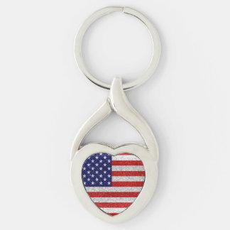 Grungy USA-Flagge Schlüsselanhänger