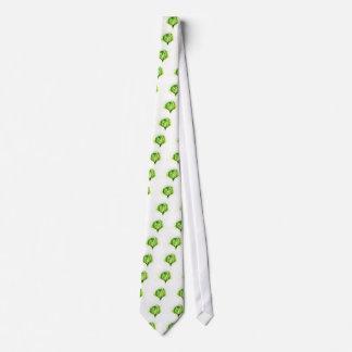 Grünkohl-Aquarell Krawatte