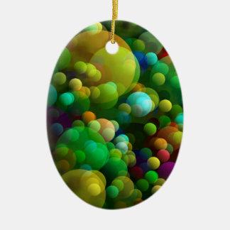 Grünliche Blasen Keramik Ornament
