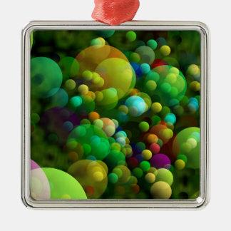 Grünliche Blasen Silbernes Ornament