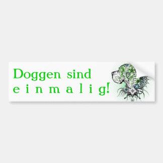 Grünliche Deutsche Dogge Autoaufkleber
