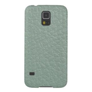 Grünliches graues ledernes Blick-Ende Galaxy S5 Hüllen