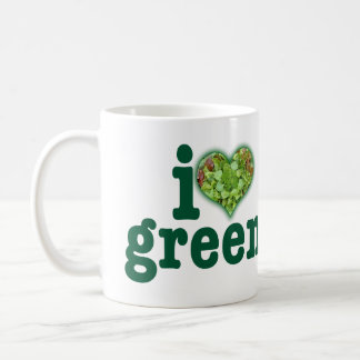 Grüntöne der Liebe I Kaffeetasse