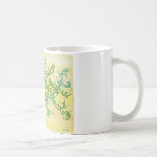 Grüntöne vermischen sich kaffeetasse