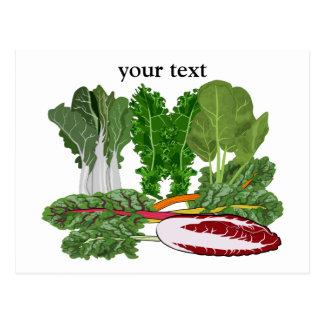 Grüntöneveggie-Liebhaber-Gemüse Postkarte