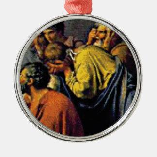 Gruppe alte Völker Silbernes Ornament