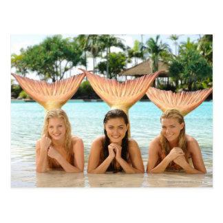 Gruppe auf dem Strand Postkarte