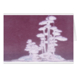 Gruppe Bonsais-Kiefer Grußkarte