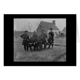 Gruppe Chirurgen am Fort Harrison, VA 1865 Karte